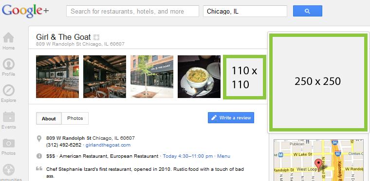 Google+ Image Specs